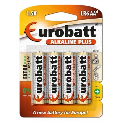 Alkaline Plus baterie AA( LR6) 1,5V 4ks Eurobatt