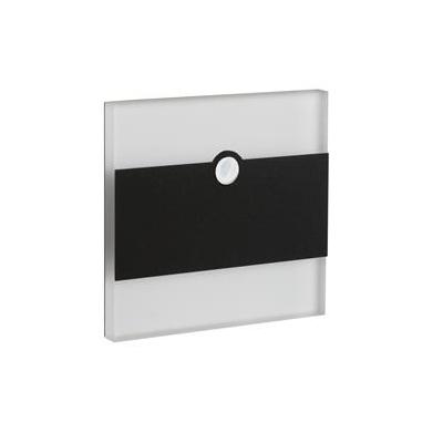 LED schodišťové svítidlo TERRA LED PIR B černá