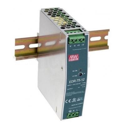 LED zdroj Mean Well EDR-75-12 na DIN lištu