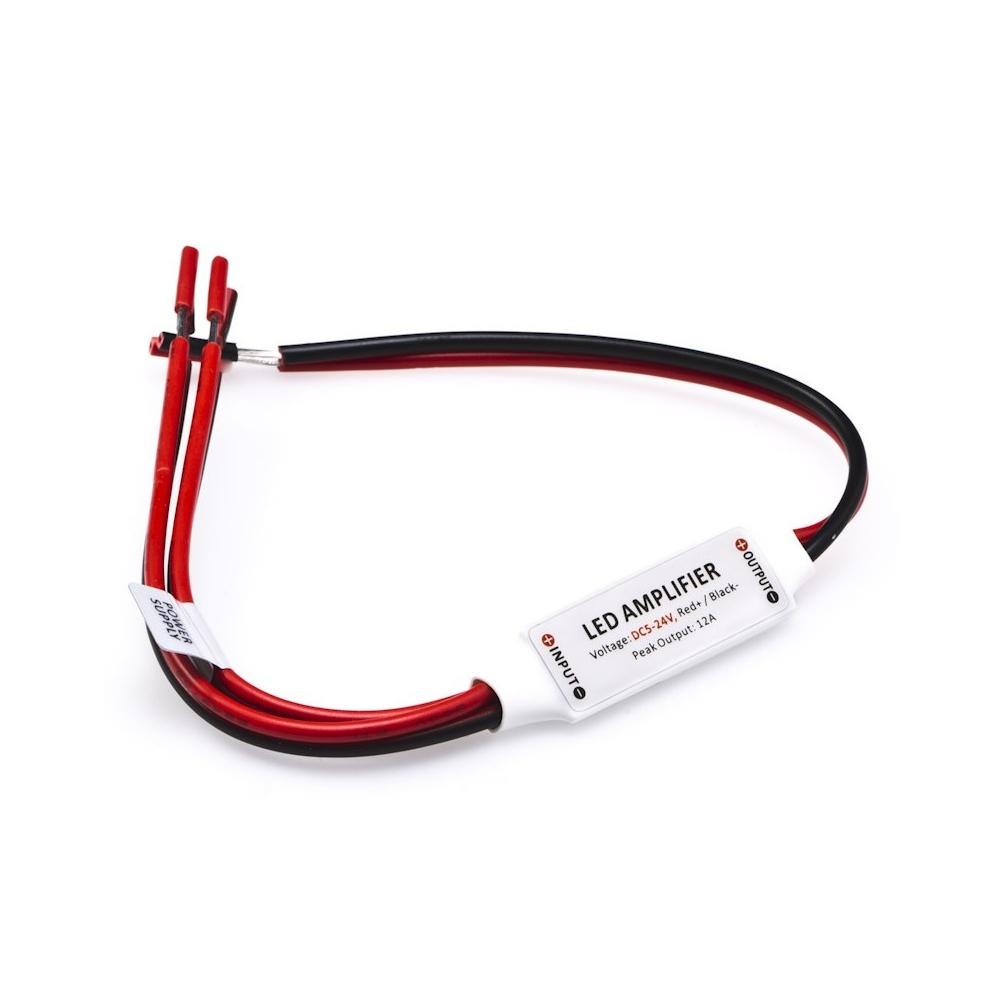 LED jednokanálový mini zesilovač signálu