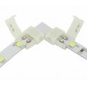 Nepájivá 8mm rohová spojka pro jednobarevné LED pásky