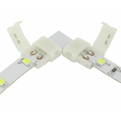 Nepájivá rohová spojka pro jednobarevné LED pásky 8 a 10mm