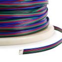 Plochý RGB kabel 4x0,35mm