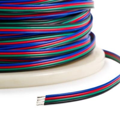 Plochý RGB kabel 4x0,35 mm