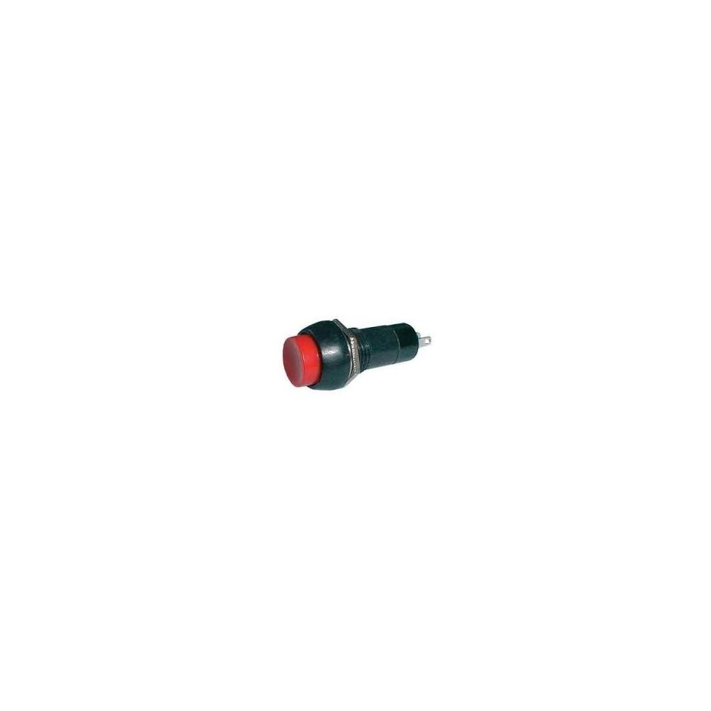 Vypínač tlačítkový malý 125V 3A červený