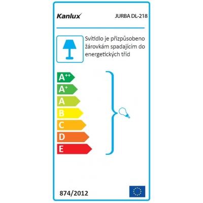 Venkovní přisazené svítidlo s vyšším krytím JURBA DL-218L