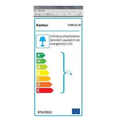 Venkovní přisazené svítidlo s vyšším krytím TURK DL-60