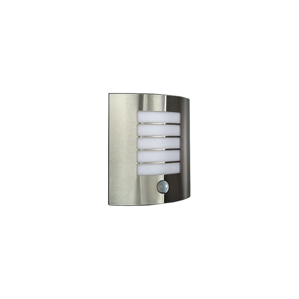 Nástěnné svítidlo nerezové E27 s PIR 60W