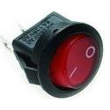 Vypínač kolébkový malý 250V 3A červený