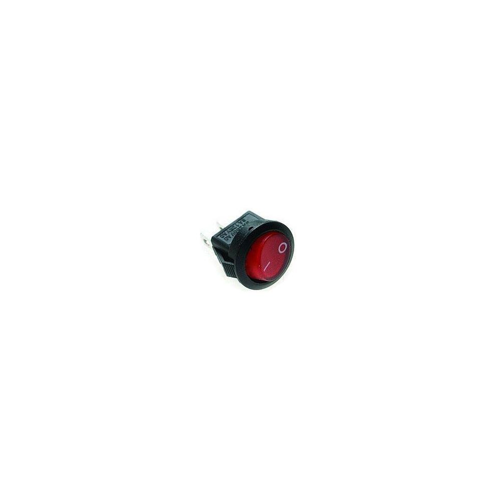 Vypínač kolébkový malý 250V/3A červený