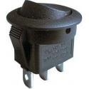 Přepínač 3 polohový 250V 6,5A černý