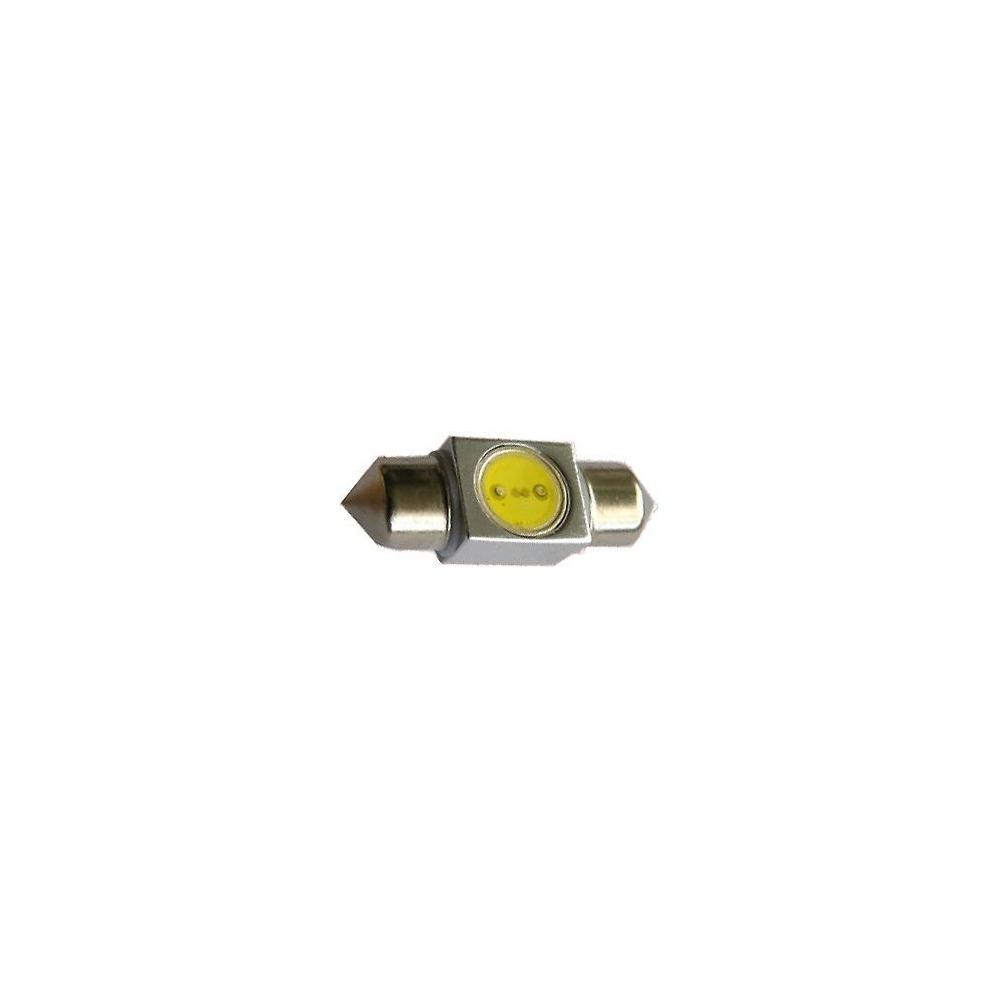 LED auto žárovka SV8,5-8 12V 1W 31mm sufit COB