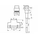 Soumrakový spínač 230V do rozváděče SS-RS1