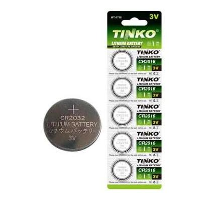 Knoflíková lithiová baterie CR2032 Tinko