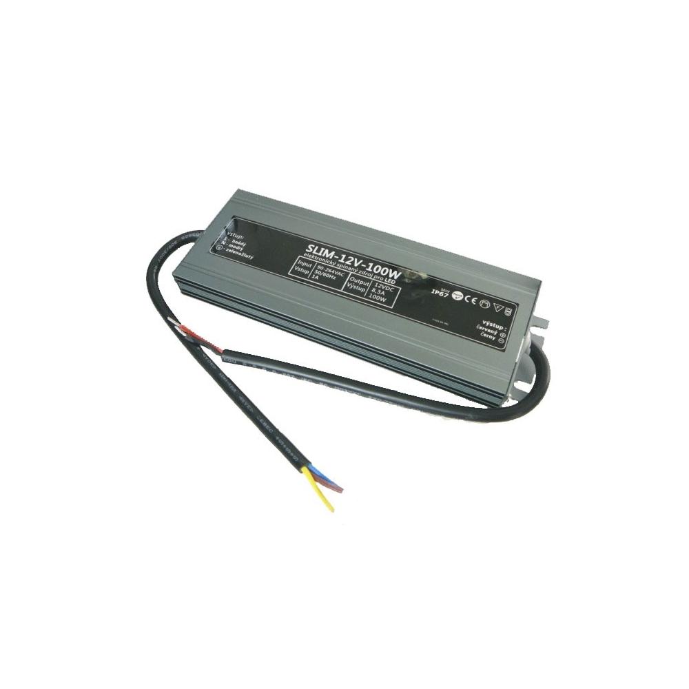 SLIM voděodolný napájecí zdroj 100W 12V