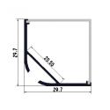 Rohový/závěsný hliníkový LED profil C30