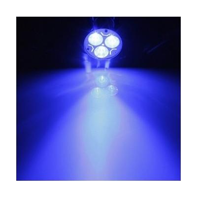 LED žárovka GU10 3W modrá
