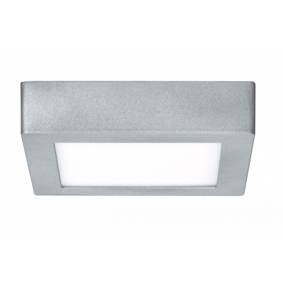 LED svítidlo stropní Lunar stříbrné 11W čtverec teplá bílá