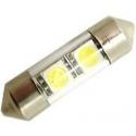 LED auto žárovka SV8.5-8 12V 1W 31mm sufit sklo