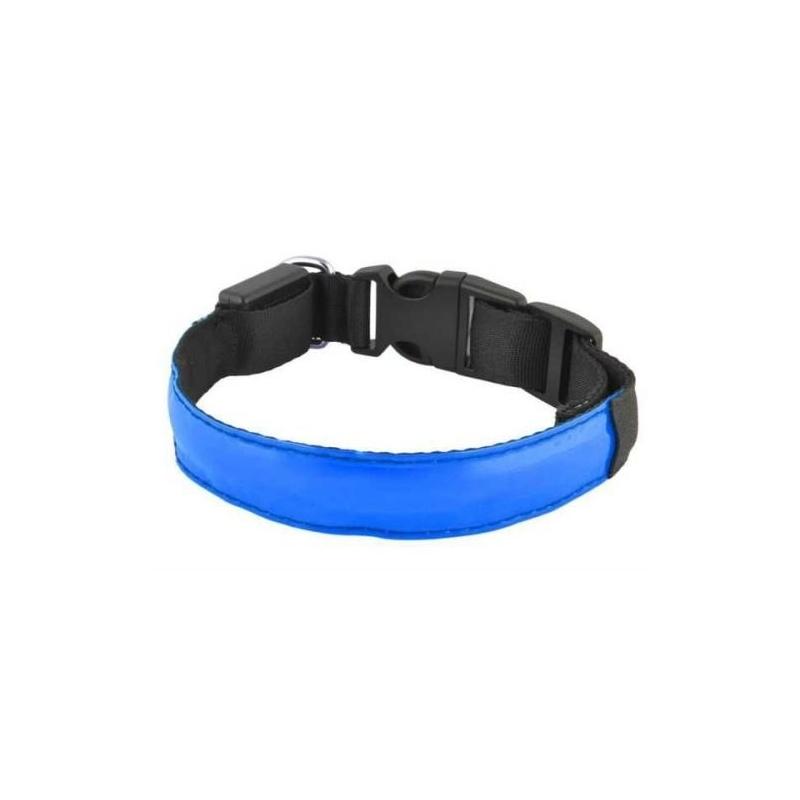 Svítící LED obojek pro psy pásek pro chodce - modrý 3cc830f8de