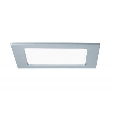 LED svítidlo podhledové stříbrné IP44 12W čtverec denní bílá