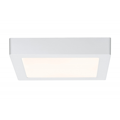 LED stropní svítidlo Lunar 15,5W hranaté matná bílá