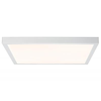 LED stropní svítidlo Lunar 27,5W hranaté matná bílá