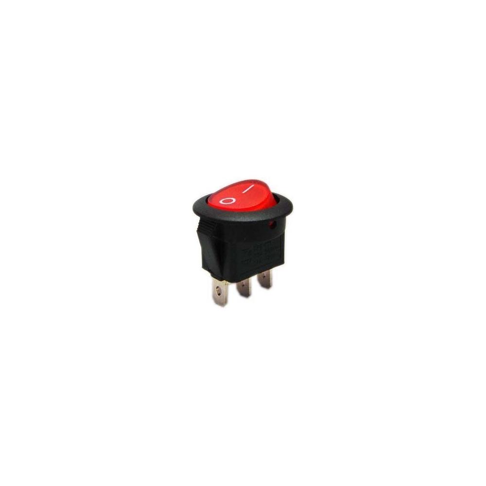 Vypínač kolébkový 250V/6A červený