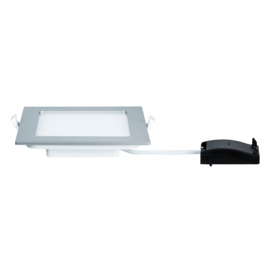 LED svítidlo podhledové stříbrné IP44 12W čtverec teplá bílá