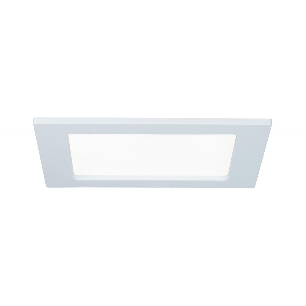 LED svítidlo podhledové bílé 12W IP44 čtverec denní bílá