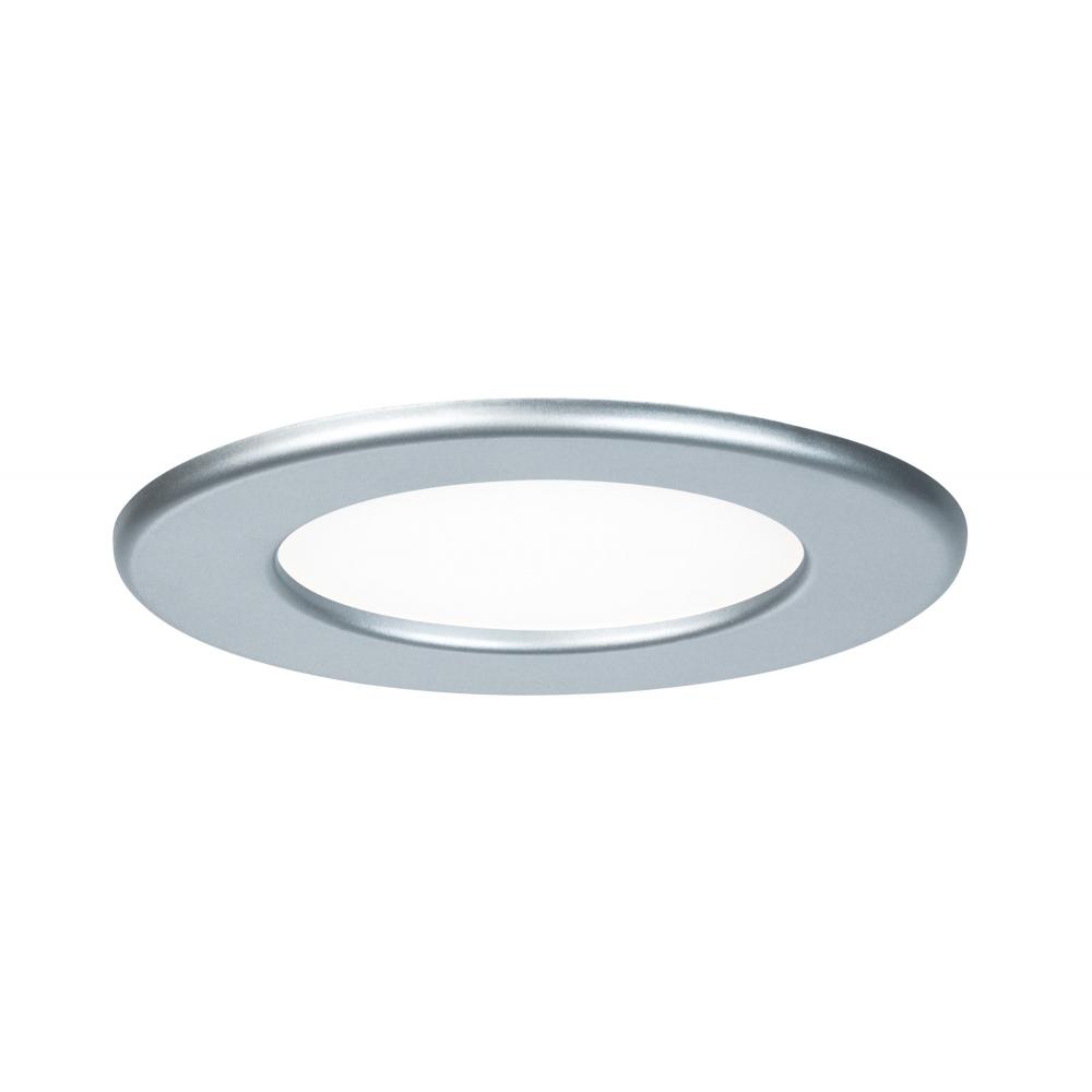 LED svítidlo podhledové stříbrné 6W IP44 kulaté