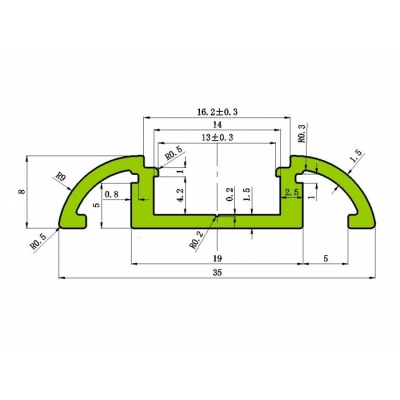 Nástěnný LED profil N10 4
