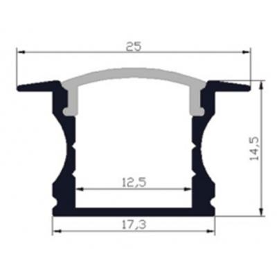 Vestavný hliníkový ALU profil High Wide