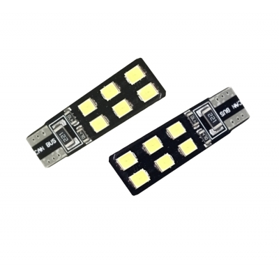LED auto žárovka T10 SMD 2,4W oboustranná CAN-BUS 10x33