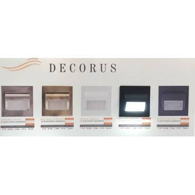 LED schodišťové svítidlo DECORUS 1,2W 12V černá