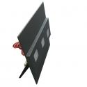 LED nástěnné svítidlo Modesto grafit 1,2W 12V studená bílá