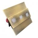 LED nástěnné svítidlo Modesto mosaz 1,2W 12V studená bílá
