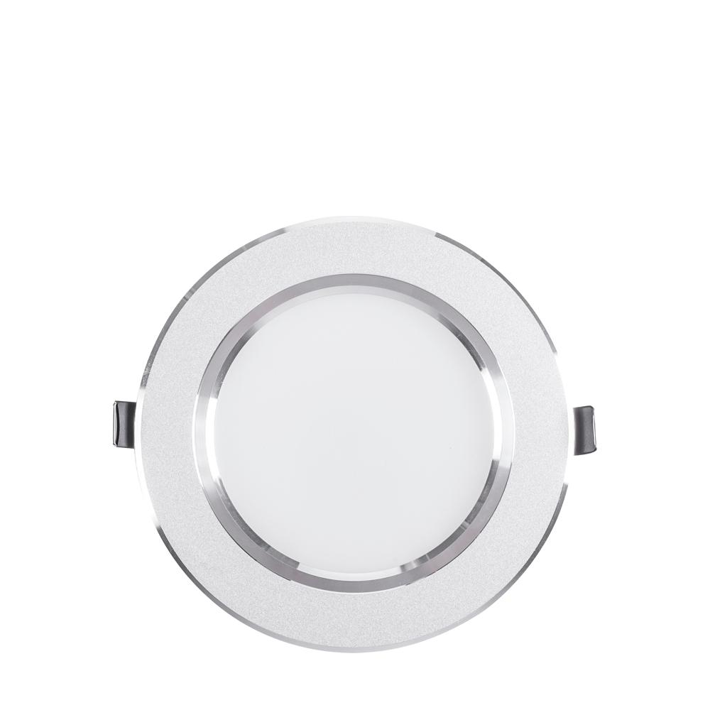 LED podhledové svítidlo kulaté 9W stříbrné teplá bílá