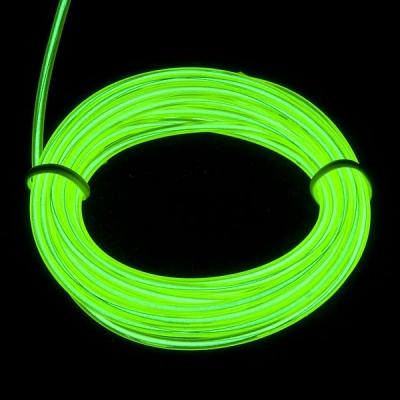 EL WIRE - svítící kabel - barva limetkově zelená 1m