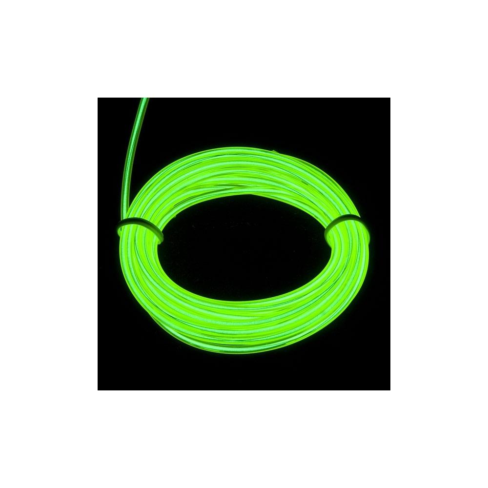 EL WIRE - svítící kabel - barva zelená 1m