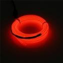 EL WIRE - svítící kabel - barva červená 1m
