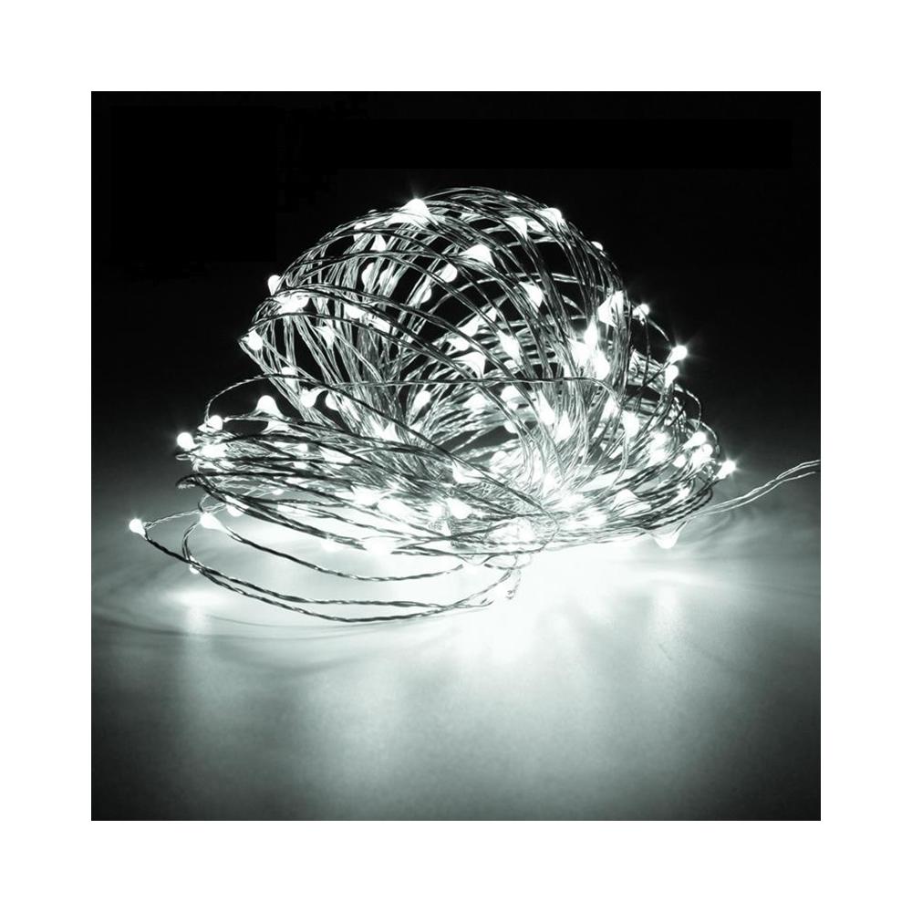 Dekorační řetěz studená bílá 10 metrů