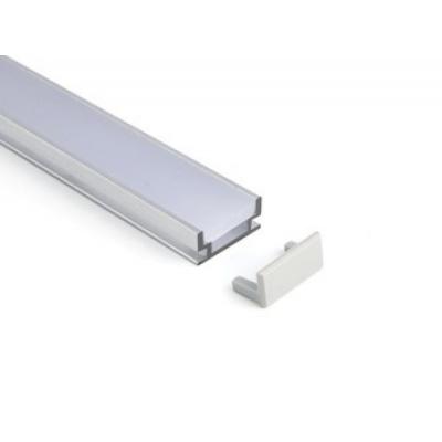 Koncovka obkladového hliníkového LED profilu