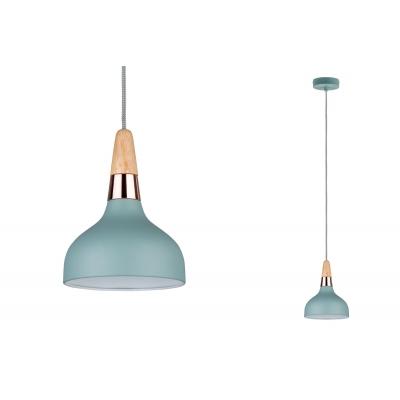 LED stropní/závěsné svítidlo NEORDIC Juna 16cm měď/dřevo E14