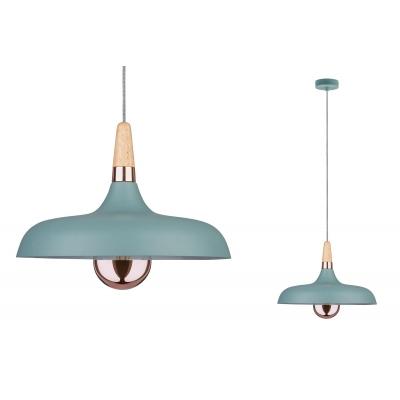 LED stropní/závěsné  svítidlo NEORDIC Juna 34cm měď/dřevo E14