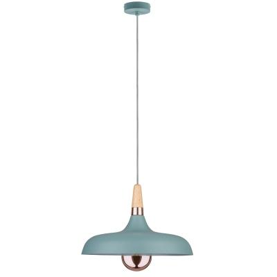 LED stropní/závěsné svítidlo NEORDIC Juna 34cm měď/dřevo- E14