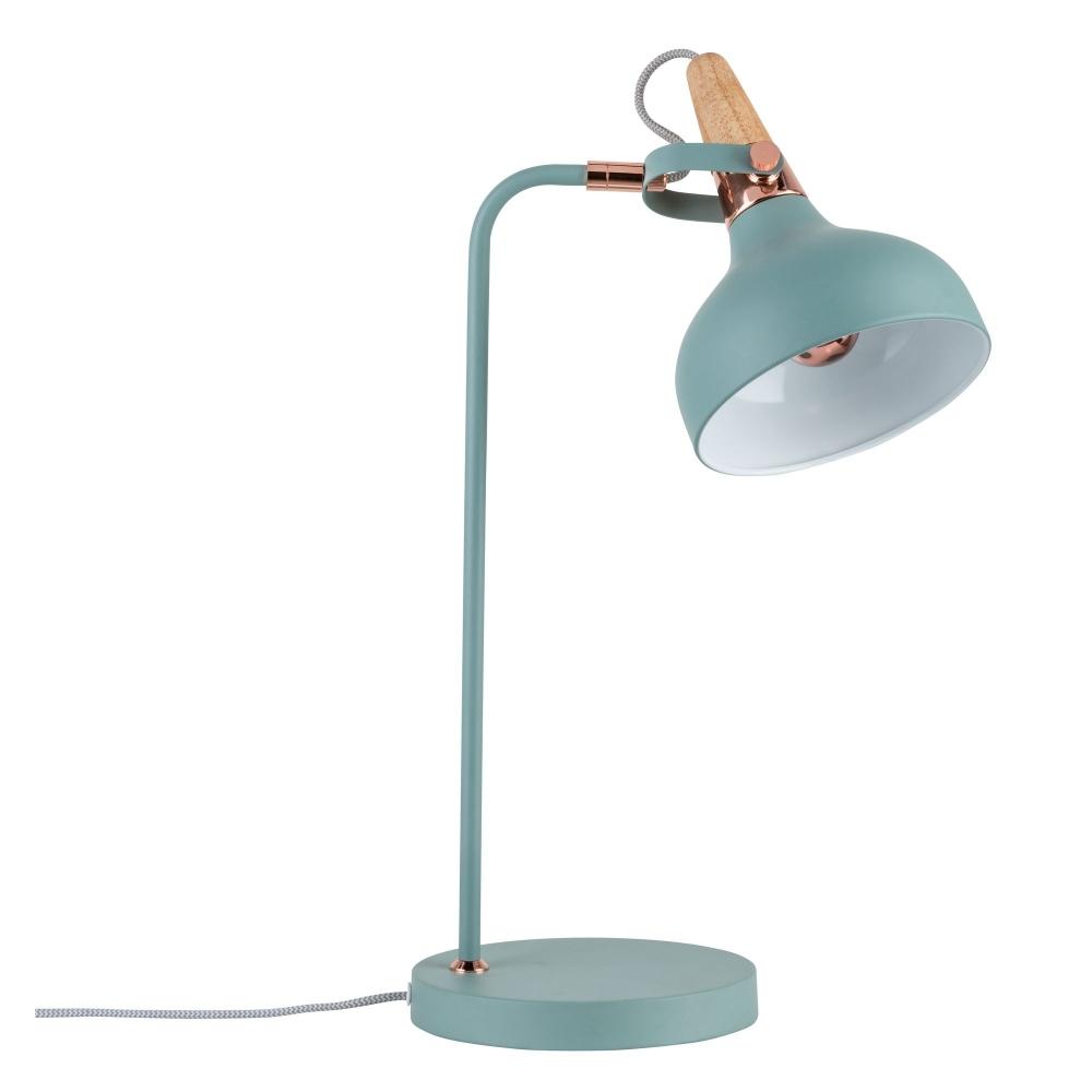 LED stolní lampa NEORDIC Juna měď/dřevo - E14