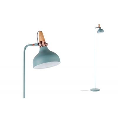 LED stojací lampa NEORDIC Juna měď/dřevo E14