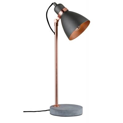 LED stolní lampa NEORDIC Orm měď/beton šedá E27