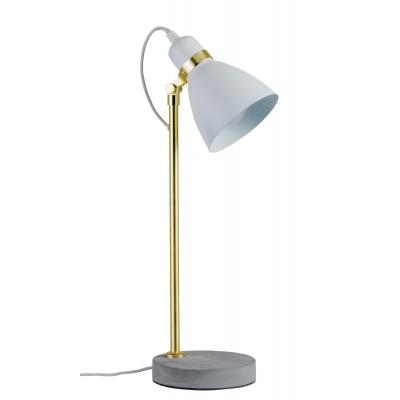 LED stolní lampa NEORDIC Orm měď/beton bílá E27